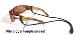 NEW! Croakies Tite End MAX Adjustable Eyewear Retainer::Fits larger temple pieces::Made in USA