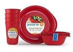Preserve Products- Everyday Tableware Set.4 Settings::Made in USA