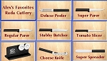 NEW!- Rada Cutlery: Alex's Favorites 7 piece Cutlery Set+ bonus--Made in USA