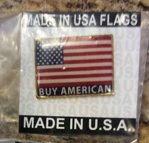 American Flag Lapel Pin- Rectangle