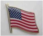 American Flag Lapel Pin- Waving (shipping incl.)