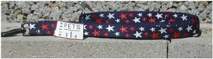 "Made in USA Bison Designs 6' STARS Dog Leash (1"" wide)"