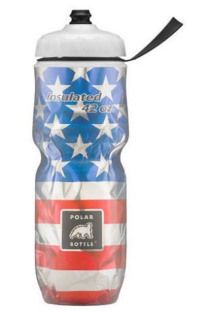 "Polar Insulated Bottle NEW BIG 42 oz.  ""Stars & Stripes"" Design- Made in USA"