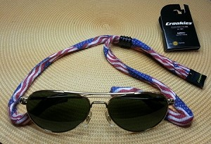 Croakies Cotton Suiters USA Flag Pattern- Made in USA!