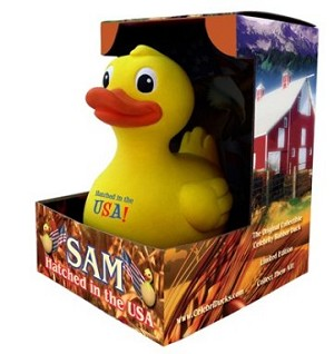 Sam the Duck in the Box: Great Gift item!