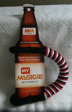 Muggies OLD STYLE--Cool beverage holder for bottles/ cans- Made in USA
