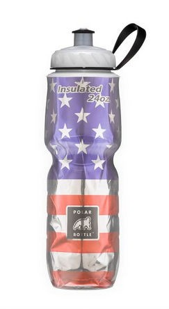 "Polar Insulated Bottle 20/ 24 oz. NEW ""Stars & Stripes"" Design- Made in USA"