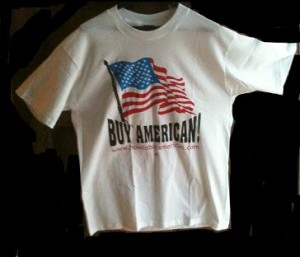 """Buy American"" T-Shirt in S-XL-- Very limited sizes in stock"