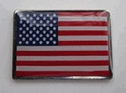 American Flag Lapel Pin- Rectangle 100% made in USA (shipping incl.)
