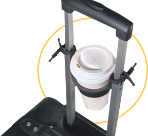 TUGO Luggage Coffee Cup Holder:: 100% made in USA