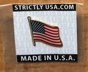Made in USA lapel pin