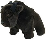 Buffalo Stuffed Animal- Made in USA: Cuddly & Cute