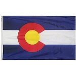 Annin Flags:  Colorado State Flag NYL-GLO Solar Max::100% Made In USA