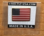 American Flag Lapel Pin- Rectangle 100% made in USA- FREE SHIPPING