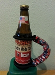 Muggies: Beverage/ Can/ Bottle Holder- NEW PATRIOTIC PATTERN! Made in USA.